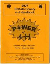 Image of 2007 Dekalb County 4-H Handbook - John Martin Smith DeKalb County Fair Collection