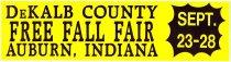 Image of DeKalb County Free Fall Fair Bumper Sticker, Sept. 23-28 - John Martin Smith DeKalb County Fair Collection