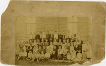 Image of Children posed outside of building - John Martin Smith Miscellaneous Collection