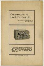 Image of Construction of Brick Pavements - John Martin Smith DeKalb County Fair Collection