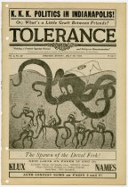 Image of Tolerance:  Voicing a Protest Against Racial and Religious Discrimination - John Martin Smith Ku Klux Klan Collection