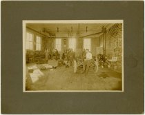 Image of Interior of Auburn Dealership at Creighton, Nebraska, 1909 - John Martin Smith Miscellaneous Collection