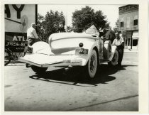Image of Rearview of an Automobile with an Indiana License Plate - John Martin Smith Miscellaneous Collection