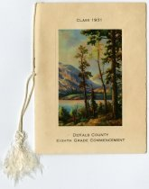 Image of DeKalb County Common Schools Eighth Grade Commencement Program 1931 - John Martin Smith Miscellaneous Collection