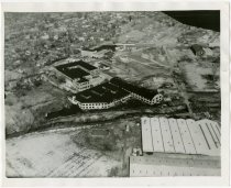 Image of Aerial view of Warner Gear building - John Martin Smith Miscellaneous Collection