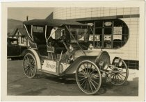 Image of McIntyre automobile at George's Super-Service station - John Martin Smith Miscellaneous Collection