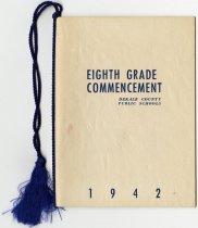 Image of DeKalb County Public Schools Eighth Grade Commencement Program 1942 - John Martin Smith Miscellaneous Collection