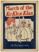 Image of March of the Ku Klux Klan - John Martin Smith Ku Klux Klan Collection