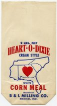 Image of Heart-O-Dixie White Corn Meal Paper Bag - John Martin Smith Miscellaneous Collection