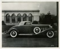 Image of Duesenburg Sj super charged car in Thomas Taggart Riverside Park - John Martin Smith Miscellaneous Collection