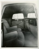 Image of View of Inside of Back Seat of Old Automobile - John Martin Smith Miscellaneous Collection