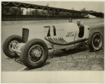 Image of Henry Falt and Warren Carpenter at Indianapolis Motor Speedway in 1933 - John Martin Smith Miscellaneous Collection