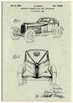 Image of Automobile Design Patent from 1929 - John Martin Smith Miscellaneous Collection