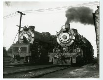 Image of B & O Locomotives # 5592 and # 4637 sit side by side - John Martin Smith Miscellaneous Collection