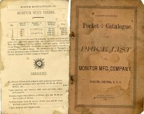 Image of Monitor Mfg Co. Catalogue & Price List, 1890 - Acquisitions