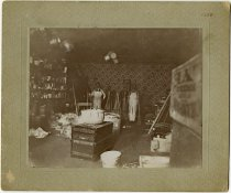 Image of Two men in a general store - John Martin Smith Miscellaneous Collection