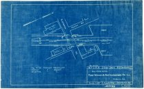Image of Blueprint of guy wires of Fort Wayne & Northwestern Ry. Co. at 11th Street and Fulton Street in Auburn, Indiana - John Martin Smith Miscellaneous Collection