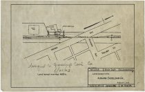 Image of Blueprint of land leased to Auburn Excelsior Co., at Indiana and Michigan Avenue in Auburn, Indiana - John Martin Smith Miscellaneous Collection