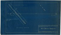Image of Blueprint of the wire crossing at the Twin Branch Power Co. in Huntertown, Indiana - John Martin Smith Miscellaneous Collection