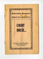 Image of DeKalb County Court House Dedication Program 1914 - Acquisitions
