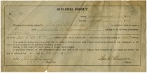 Image of Application for Building Permit - John Martin Smith Miscellaneous Collection