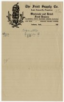 Image of Letterhead with The Fruit Supply Co. - John Martin Smith Miscellaneous Collection