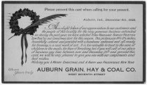 "Image of Auburn Grain, Hay & Coal Co. exchange token for the ""Low Tide"" artwork - John Martin Smith Miscellaneous Collection"