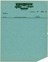 Image of Blank Creek Chub Bait credit memo - John Martin Smith Miscellaneous Collection