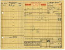 Image of Yoder Ford Sales automobile service invoice - John Martin Smith Miscellaneous Collection