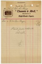 Image of Thumma & Abell Cigar billing statement - John Martin Smith Miscellaneous Collection