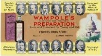 Image of Wampol's Preparation ink blotter; Hughes Drug Store; Garrett, Indiana - John Martin Smith Miscellaneous Collection