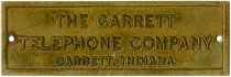 Image of Brass Tag - The Garrett Telephone Company - John Martin Smith Miscellaneous Collection