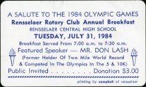 Image of Rensselaer Rotary Club's Annual Breakfast on July 31, 1984 - Extraordinary Hoosiers: Don Lash Collection
