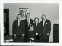 Image of Don Lash and Family in F.B.I. Office in Indianapolis, Indiana - Extraordinary Hoosiers: Don Lash Collection