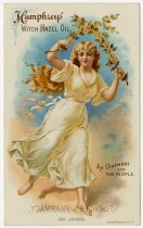 Image of Fischler's Pharmacy Trade Card for Humphrey's Witch Hazel Oil. - John Martin Smith Miscellaneous Collection