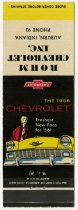 Image of Drawing of 1956 Chevy on Rhom Chevrolet, Inc. Matchbook Cover. - John Martin Smith Miscellaneous Collection