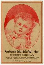 Image of Auburn Marble Works, Ferguson and Smith, Prop. - John Martin Smith Miscellaneous Collection