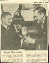 "Image of 1963 Newspaper Clipping Titled: ""Running Conversation"" - Extraordinary Hoosiers: Don Lash Collection"