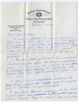 Image of Order of Eastern Star Letter - John Martin Smith Miscellaneous Collection