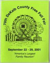 Image of 2001 DeKalb Fair premium book - John Martin Smith DeKalb County Fair Collection