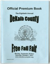 Image of 2011 Official Premium Book for the 80th DeKalb County Free Fall Fair - John Martin Smith DeKalb County Fair Collection