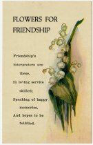 Image of Postcard sample of the Floral Friendly Message Greeting - John Martin Smith Miscellaneous Collection