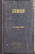 Image of Dr. Bonnell Souder's 1934 Diary - Extraordinary Hoosiers: John Martin Smith Collection
