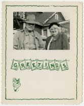 Image of Photo of Frank and Grace Ginnivan on Christmas Card - Extraordinary Hoosiers: John Martin Smith Collection