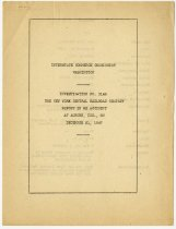 Image of Interstate Commerce Commission report on train accident - John Martin Smith Miscellaneous Collection
