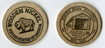 Image of 2013.07.14 - This wooden nickel commemorates the Spencerville, Indiana Centennial held during July 27-29, 1973.