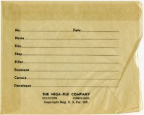 Image of Envelope Containing Two Lash Family Photo Negatives - Extraordinary Hoosiers: Don Lash Collection