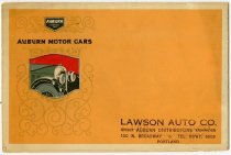 Image of Auburn Motor Cars - John Martin Smith Miscellaneous Collection