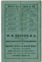 Image of Hostetter's Business Calendar for 1882. - John Martin Smith Miscellaneous Collection
