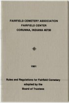 Image of Fairfield Center Cemetary Rules and Regulations. - John Martin Smith Miscellaneous Collection